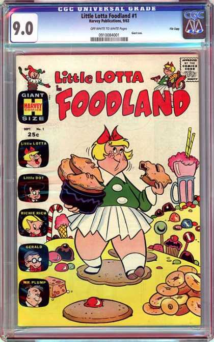 CGC Graded Comics - Little Lotta Foodland #1 (CGC) - Cupcakes - Giant - Size - Donuts - Comics