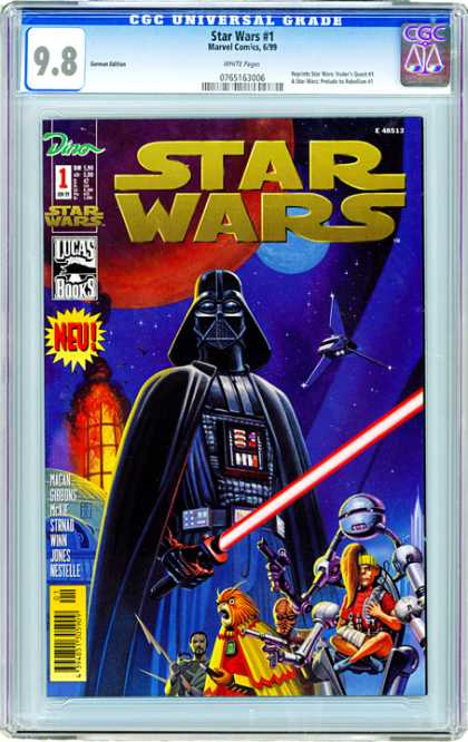 CGC Graded Comics - Star Wars #1 (CGC) - Darth Vader - Star Wars - Laser Spear - Gizmo - Mechanical Arms