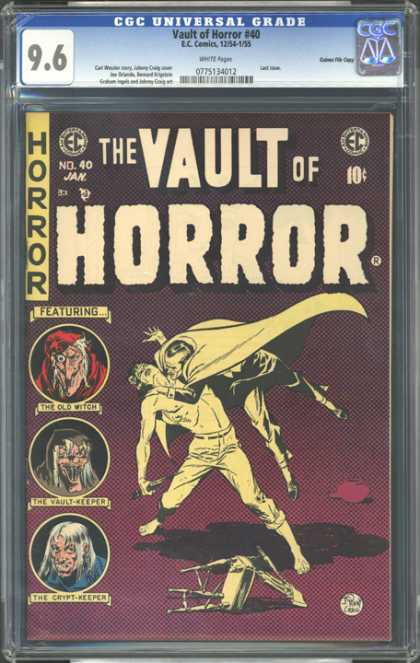 CGC Graded Comics - Vault of Horror #40 (CGC) - Vault - Horror - The Old Witch - The Vault Keeper - The Crypt Keeper