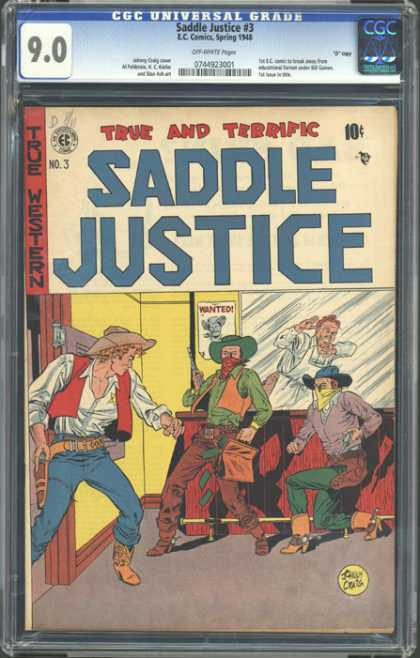 CGC Graded Comics - Saddle Justice #3 (CGC) - True And Terrific - Western - Bartender - Outlaws - Hero