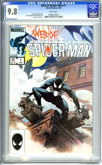CGC Graded Comics - Web of Spider-Man #1 (CGC) - Marvel - Windows - House - Tallest Building - Reday To Jump