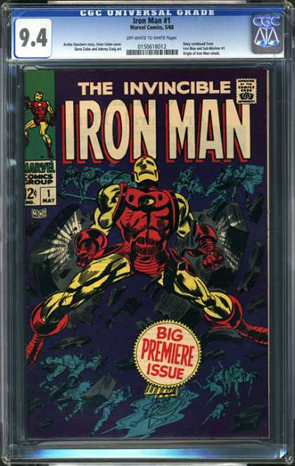 CGC Graded Comics - Iron Man #1 (CGC) - Cgc Hologram - Ironman - Premiere Issue - Number 1 - Invincible