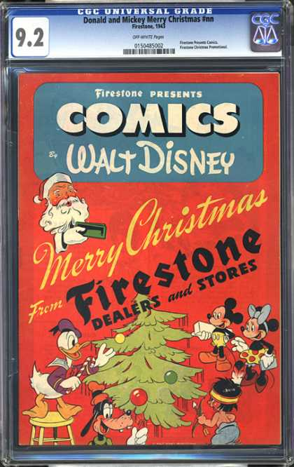 CGC Graded Comics - Donald and Mickey Merry Christmas #nn (CGC) - Merry Christmas - Mouse - Donald Duck - Christmas Tree - Presents