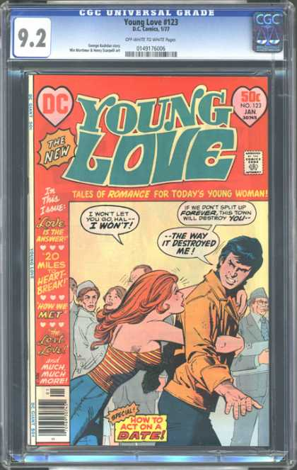 CGC Graded Comics - Young Love #123 (CGC) - Hal - Destroyed - Dc - Hearts - How To Act On A Date