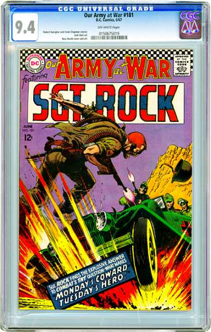 CGC Graded Comics - Our Army at War #181 (CGC) - Our Army At War - Dc - Superman - Approved By The Comics Code Authority - National Comics