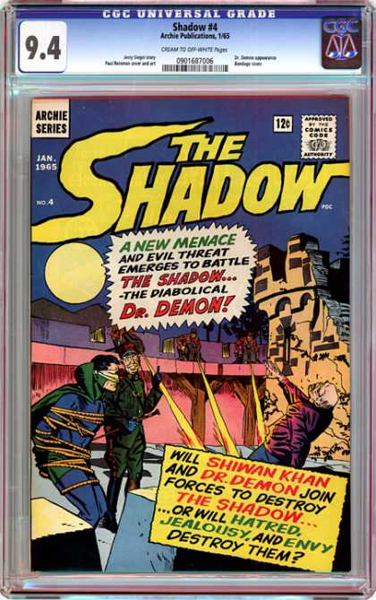 CGC Graded Comics - Shadow #4 (CGC) - Archie Series - The Shadow - Jan 1965 - Approved By The Comics Code Authority - A New Menace