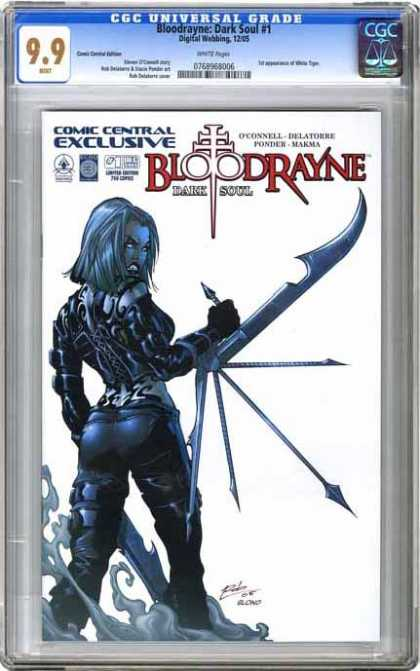 CGC Graded Comics - Bloodrayne: Dark Soul #1 (CGC) - Cgc Universal Grade - Bloodrayne - Dian Leady Standing - Comic Central Exclusive - Dark Soul