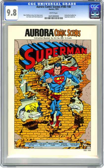 CGC Graded Comics - Aurora Comic Scenes #185-140 (CGC) - Aurora - Superman - Brick Wall - Broken - Instruction Booklet