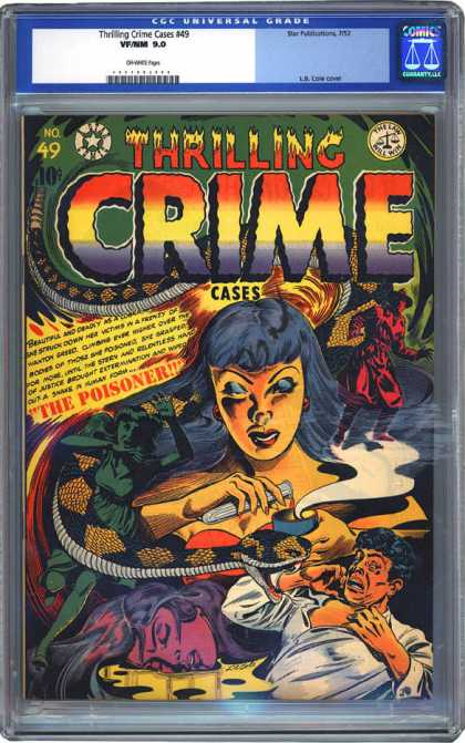 CGC Graded Comics - Thrilling Crime Cases #49 (CGC) - Thrilling - Crime - The Poisoner - Male - Female