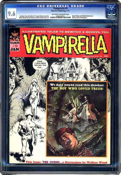 CGC Graded Comics - Vampirella #9 (CGC) - 96 - Vampirella - Vampi 9 Jan - The Boy Who Loved Trees - Wallsce Wood