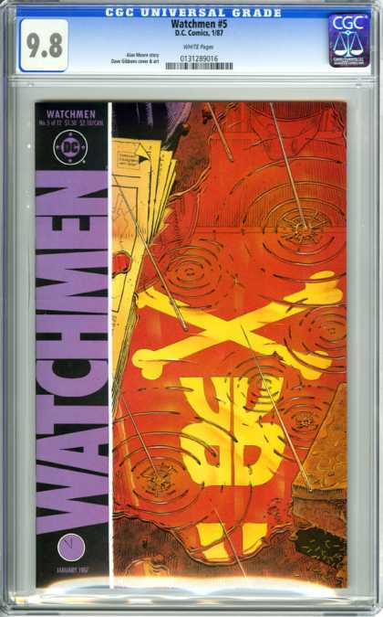 CGC Graded Comics - Watchmen #5 (CGC) - Alan Moore - Comedian - Rorschach - Blood Pool - Ozymandias