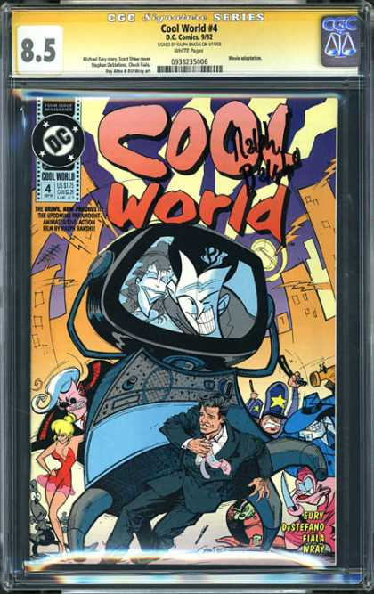 CGC Graded Comics - Cool World #4 (CGC) - Man - Woman - Machine - 85 - Building
