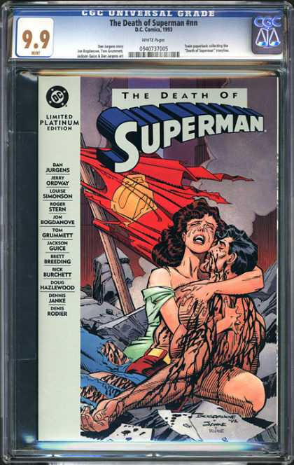 CGC Graded Comics - The Death of Superman #nn (CGC) - Dc - Dan Jurgens - Superman - Limited Platinum Edition - Roger Stern