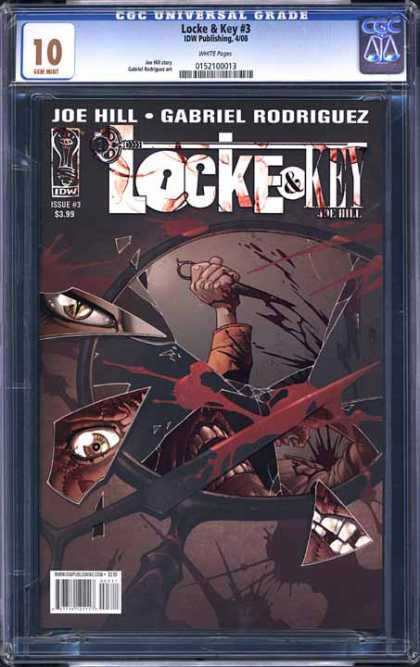 CGC Graded Comics - Locke & Key #3 (CGC) - Broken Mirror - Blood - Killer Eye - Scissor - Teeth