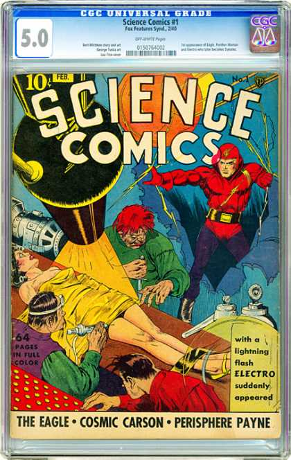CGC Graded Comics - Science Comics #1 (CGC)