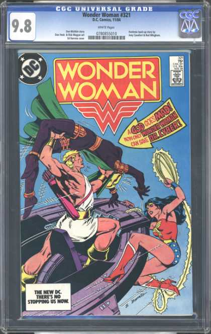 CGC Graded Comics - Wonder Woman #321 (CGC) - Wonder Woman - A God Goes Mad - Dr Cyber - The New Dc - Theres No Stopping Us Now