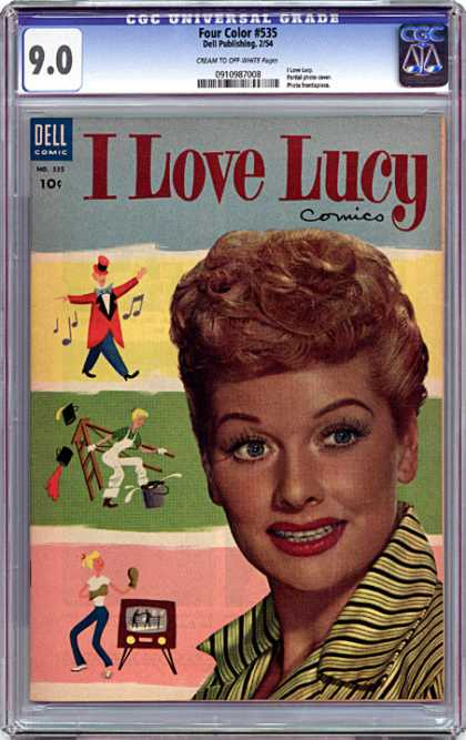 CGC Graded Comics - Four Color #535 (CGC) - Woman - Lucille Ball - Notes - Ladder - Bucket