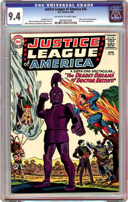 CGC Graded Comics - Justice League of America #34 (CGC)