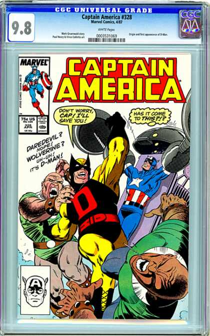 CGC Graded Comics - Captain America #328 (CGC)