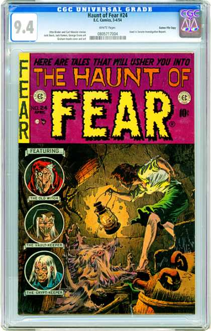 CGC Graded Comics - Haunt of Fear #24 (CGC) - Fear - Old Witch - Vault Keeper - Haunt - Tales