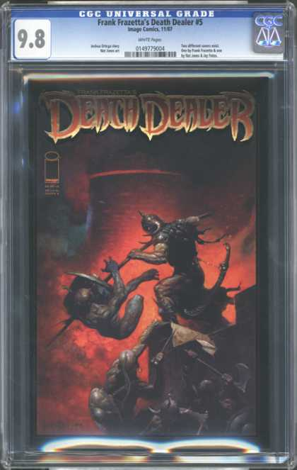 CGC Graded Comics - Frank Frazetta's Death Dealer #5 (CGC) - Monsters - Battle Time - Weapons - Death - Armor