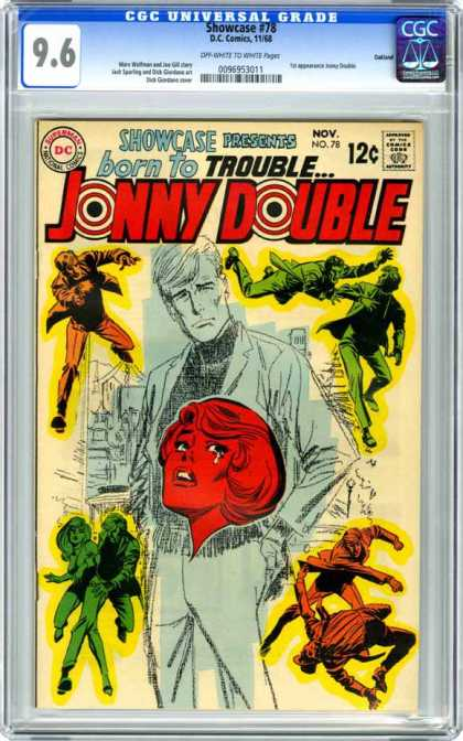 CGC Graded Comics - Showcase #78 (CGC) - Bourn To Trouble - Crying Lady - Painting Man - Fighting Man - Painting Lady On Man Shirts