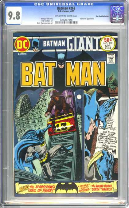 CGC Graded Comics - Batman #262 (CGC) - Batman Giant - The Scarecrows Trail Of Terror - The Round Robin Death Threats - Roller Coaster - Double-length