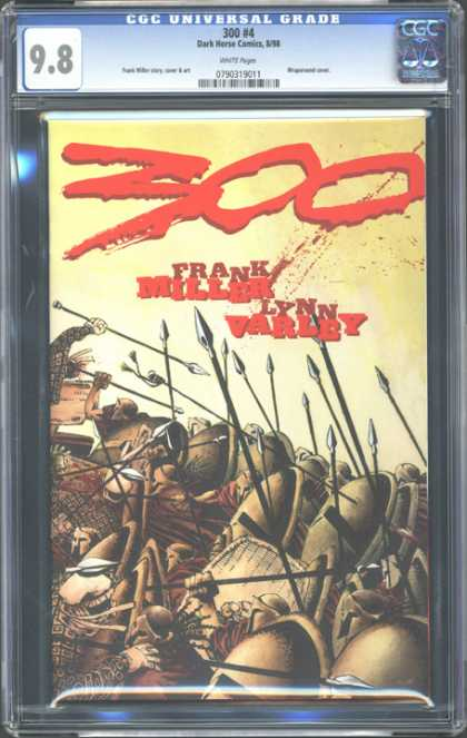 CGC Graded Comics - 300 #4 (CGC) - Frank Miller - Lynn Carley - Soliders - Spears - Blood