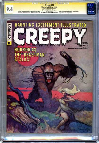 CGC Graded Comics - Creepy #11 (CGC) - Age - Roots - Red Water - Blond - 35 Cents