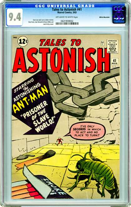 CGC Graded Comics - Tales to Astonish #41 (CGC) - Tales To Astonish - Astonishing Ant-man - Prisoner Of The Slave World - Shrunken Down - In The Corner