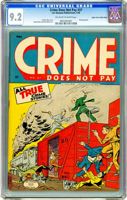 CGC Graded Comics - Crime Does Not Pay #37 (CGC)