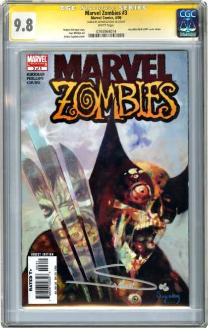 CGC Graded Comics - Marvel Zombies #3 (CGC) - Wolverine - Marvel Zombies - Mutants - X-men - Limited Edition