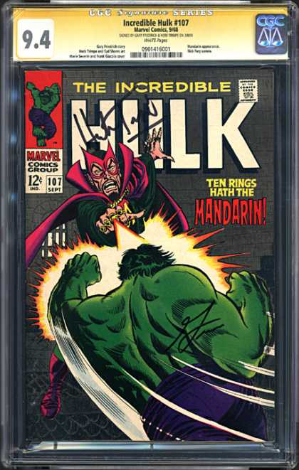 CGC Graded Comics - Incredible Hulk #107 (CGC)
