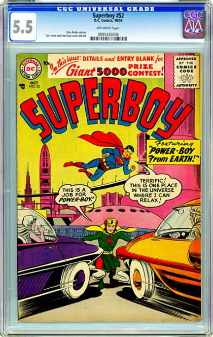 CGC Graded Comics - Superboy #52 (CGC)