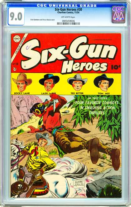 CGC Graded Comics - Six-Gun Heroes #30 (CGC) - Cowboys - Indain - West - Action - Guns