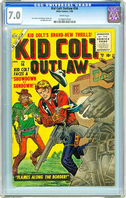 CGC Graded Comics - Kid Colt Outlaw #56 (CGC) - Kid Colt - Outlaw - 56 - January - Showdown At Sundown
