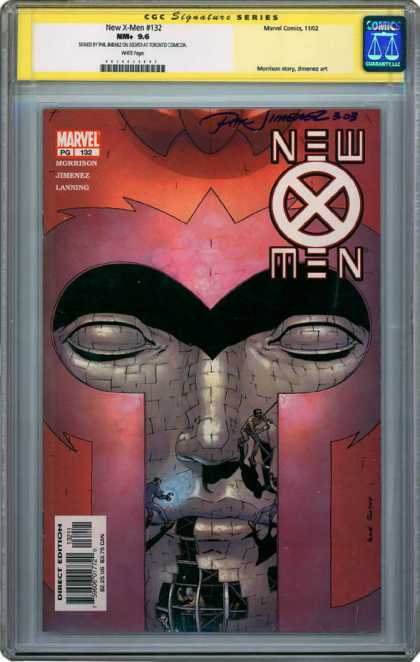 CGC Graded Comics - New X-Men #132 (CGC) - Magneto - Marvel - Signed - Mutant - Building