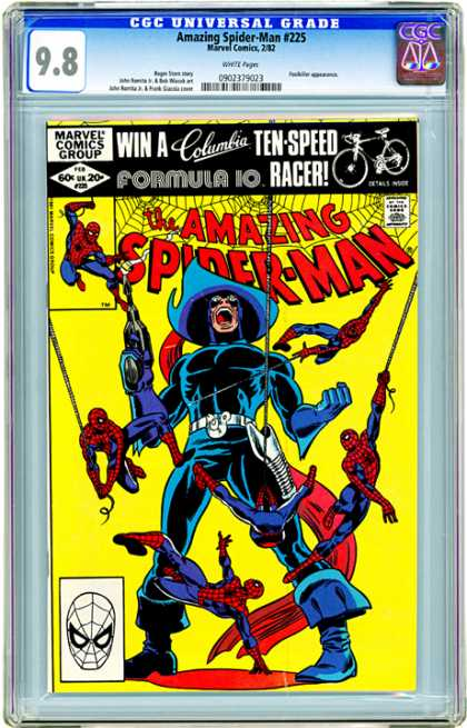 CGC Graded Comics - Amazing Spider-Man #225 (CGC) - Bronze Age - Webs - Gun - Swinging - Spidey