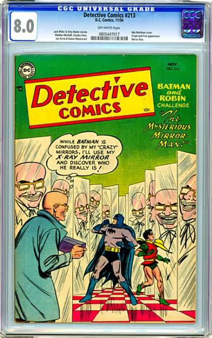 CGC Graded Comics - Detective Comics #213 (CGC) - Null - Dull - Skull - Man - Guy