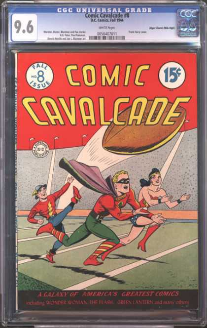 CGC Graded Comics - Comic Cavalcade #8 (CGC) - Dc - Golden Age - Flash - Green Lantern - Football