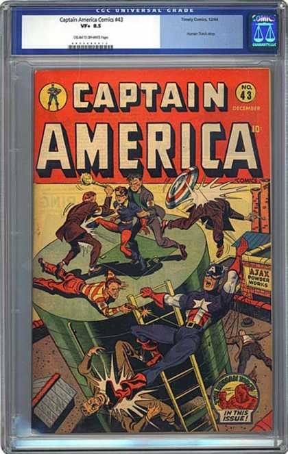 CGC Graded Comics - Captain America Comics #43 (CGC)