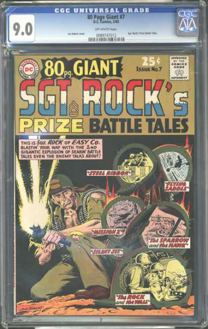 CGC Graded Comics - 80 Page Giant #7 (CGC) - Prize - Battle Tales - Sgt Rock - Easy Co - Hawk