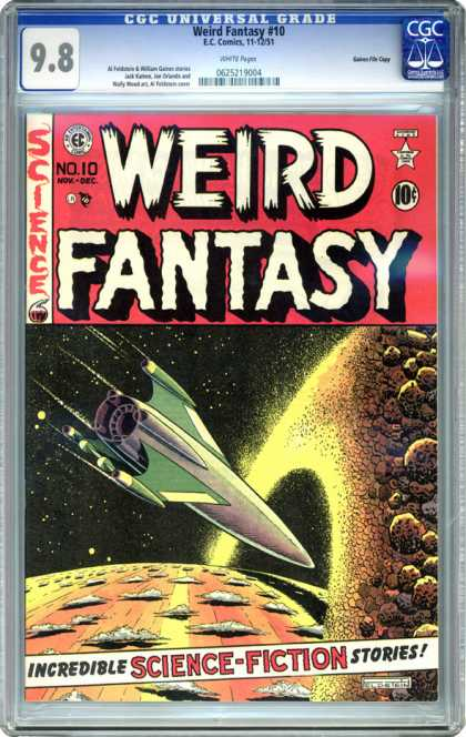 CGC Graded Comics - Weird Fantasy #10 (CGC) - Weird Fantasy - Science - Rocket - Incredible Science-fiction Stories - Planet