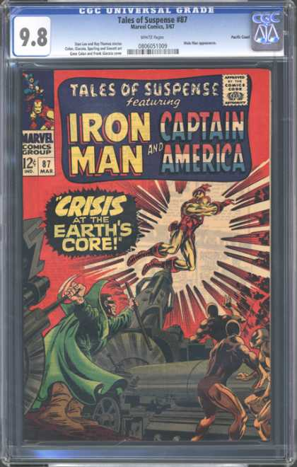 CGC Graded Comics - Tales of Suspense #87 (CGC) - Tales Of Suspense - Iron Man - Captain America - Marvel Comics - Crisis At The Earths Core