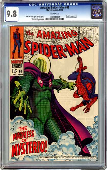CGC Graded Comics - Amazing Spider-Man #66 (CGC) - Marvel - Marvel Comics - Spiderman - Mysterio - Peter Parker