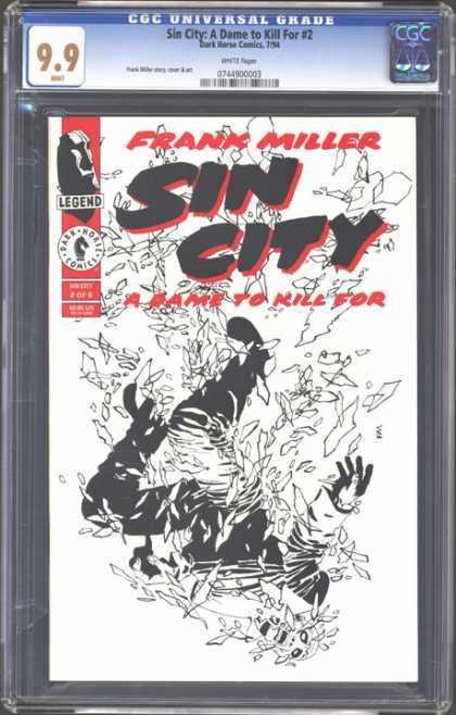 CGC Graded Comics - Sin City: A Dame to Kill For #2 (CGC) - Frank Miller - Sin City - A Game To Kill For - Black And White - Shatter Glass