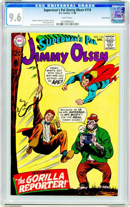 CGC Graded Comics - Superman's Pal Jimmy Olsen #116 (CGC) - Supermans Pal - Jimmy Olsen - Dc - Ape - December