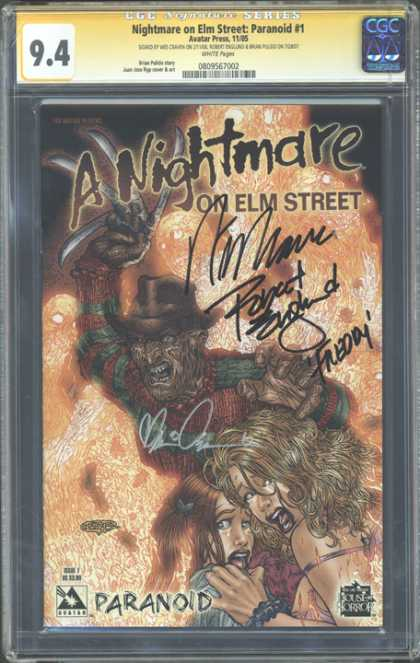 CGC Graded Comics - A Nightmare on Elm Street: Paranoid #1 (CGC)