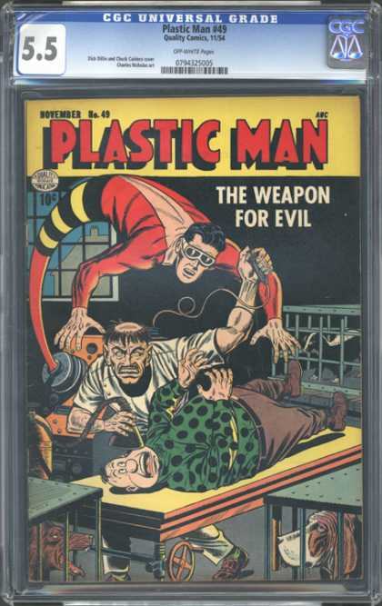 CGC Graded Comics - Plastic Man #49 (CGC) - Cgc - Cgc Comics - Plastive Man - Evil - Weapon