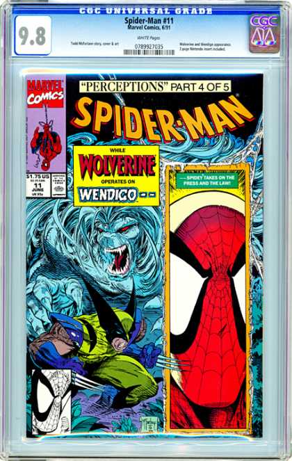 CGC Graded Comics - Spider-Man #11 (CGC) - Spidey - Operation - Wendico - Wolverine - Perceptions